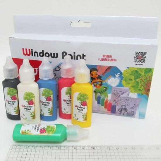 FWP0622-1 Краска для стекла 6цв*22мл+ трафареты (для витража) (12/48)