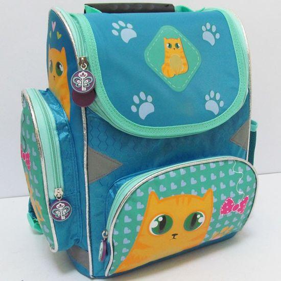 JO-16002 Рюкзак коробка Котик 25*33*13CM, ортоп., светоотраж. (XFA-1402) (4)
