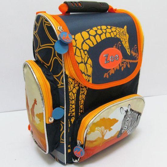 JO-16003 Рюкзак коробка Зебра 25*33*13CM, ортоп., светоотраж. (XFA-1403) (4)