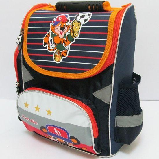 JO-16005 Рюкзак коробка Тигр 25*33*13CM, ортоп., светоотраж. (XFA-1405) (1)