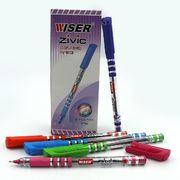 Ручка масляна синя 0.7 мм з гумовим тримачем Zivc Wiser