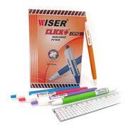 Ручка масляна автоматична синя 0.7 мм Click+ Wiser