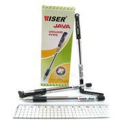 Ручка масляна чорна 0.7 мм з гумовим тримачем Java Wiser