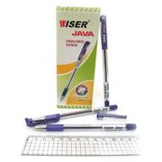 Ручка масляна фіолетова 0.7 мм з гумовим тримачем Java Wiser