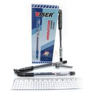 Ручка гелева чорна 0.6 мм з гумовим тримачем Monitor Wiser