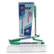 Ручка гелева зелена 0.6 мм з гумовим тримачем Monitor Wiser