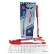 Ручка гелева червона 0.6 мм з гумовим тримачем Monitor Wiser