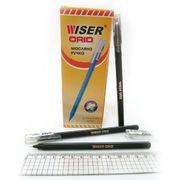 Ручка масляна чорна 0.7 мм з трикутним прогумованим корпусом Orio Wiser