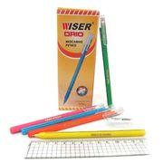 Ручка масляна синя 0.7 мм з трикутним прогумованим корпусом Orio soft Wiser