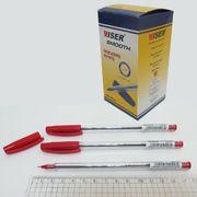 Ручка масляна червона 0.7 мм Smooth Wiser