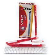Ручка гелева червона 0.6 мм Velo Wiser