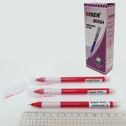 Ручка масляна червона 0.7 мм з гумовим тримачем Zossa Wiser