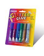 Клей з блискітками, 6 кольорів по 6 мл. Pasco F-001-4 (24/288)