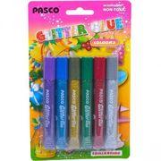 Клей з блискітками, 6 кольорів по 10 мл. Pasco F-019-04 (24/144)