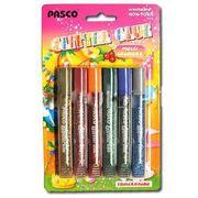 Клей з блискітками, 6 кольорів по 10 мл. Pasco F-019-07 (24/144)