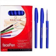 Ручка масляна синя 0.7 мм матовий корпус Face pen Radius