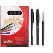 Ручка масляна чорна 0.7 мм матовий корпус Face pen Radius