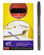 Ручка масляна чорна 0.7 мм МХ  Radius