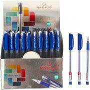 Ручка кулькова синя 0.7 мм з гумовим тримачем One Plus Radius