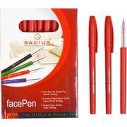 Ручка масляна червона 0.7 мм матовий корпус Face pen Radius