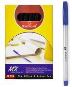 Ручка масляна синя 0.7 мм корпус перламутрового кольору МХ  Radius