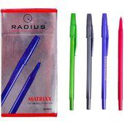 Ручка кулькова синя 0.7 мм корпус тонований мікс Matrixx Radius