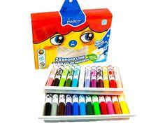 Фломастери Marco Super Washable Jumbo, 24 кольори, лінія 1-5 мм, легко змиваються як з любої тканини , так зі шкіри дитини