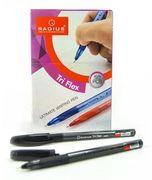 Ручка кулькова чорна 0.7 мм з гумовим тримачем Tri Flex ТТ Radius