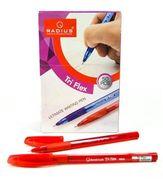 Ручка кулькова червона 0.7 мм з гумовим тримачем Tri Flex ТТ Radius