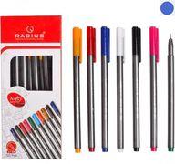 Ручка кулькова синя 0.7 мм корпус темно-сірого кольору мікс Nifty pen blue Radius