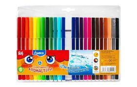 Фломастери Marco Super Washable, 24 кольори, лінія 1 мм, легко змиваються як з любої тканини , так зі шкіри дитини