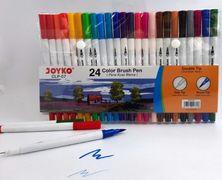 Фломастери двосторонні ТМ Joyko 24 кольори, лінія 0.7-2.0 мм CLP-07