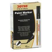 Маркер лаковий ТМ Joyko PTM-38, для перманентного промислового маркування на усіх матеріалах і для оздоблювальних робіт,чорного кольору , круглий пишучий вузол,