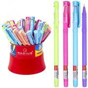 Ручка масляна синя 0.7 мм кольоровий матовий корпус в банці I-Pen Radius