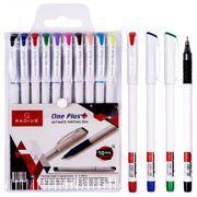 Набір кулькових ручок 0.7 мм з гумовим тримачем 10 кольорів Radius One Plus