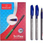 Ручка кулькова синя 0.7 мм з гумовим тримачем Radius Tri Flex