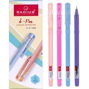 Ручка масляна синя 0.7 мм кольоровий матовий корпус I-Pen Radius
