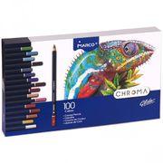 Олівці кольорові 100 кольорів Marco Chroma 8010-100CB