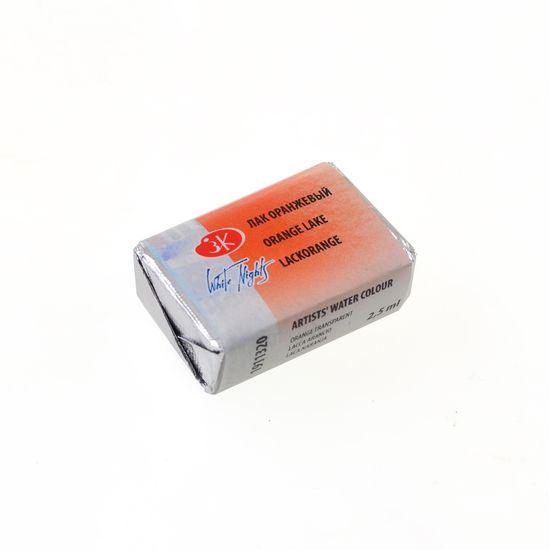 Краска акварельная лак оранжевый 2,5 мл Кювета ЗХК