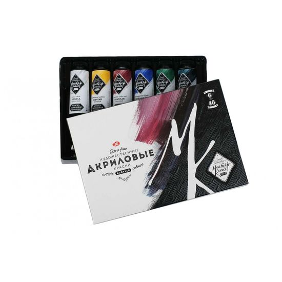 Набор акриловых красок 6 цветов 46 мл Мастер-класс ЗХК