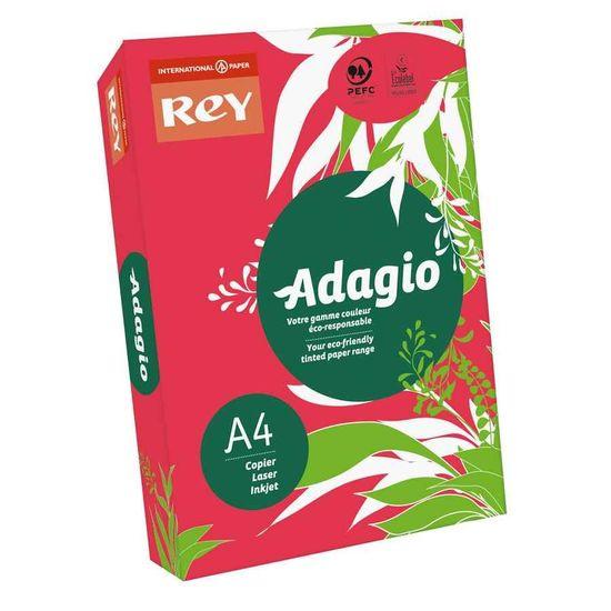 Бумага цветная офисная А4 Adagio Intense Red 22 (красный) 80 г/м2 500 листов