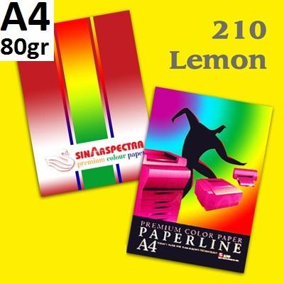 Бумага цветная офисная А4 Paperline IK LEMON 210 (желтый) 80 г/м2 500 листов