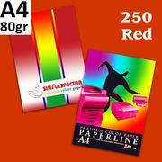 Папір кольоровий офісний А4 Paperline IK RED 250 (червоний) 80 г/м2 500 аркушів