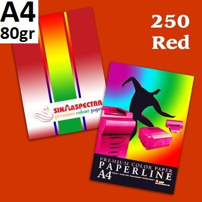 Бумага цветная офисная А4 Paperline IK RED 250 (красный) 80 г/м2 500 листов