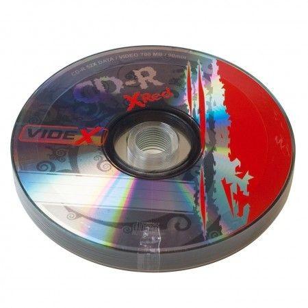 Videx X-Red CD-R 700 Mb 52x bulk 10
