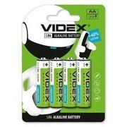 Батарейка лужна Videx LR6/AA 4шт Blister Card