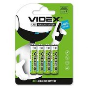 Батарейка лужна Videx LR03/AAA 4шт Blister Card