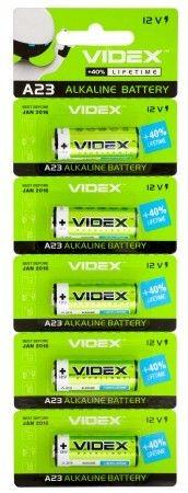 Батарейка лужна Videx А23/Е23А 5шт BLISTER CARD