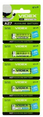 Батарейка лужна Videx А27 5шт BLISTER CARD