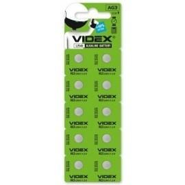 Батарейка годинникова Videx AG 3/LR41 BLISTER CARD 10 шт